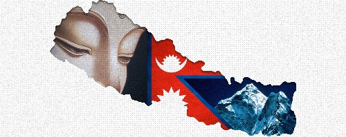 Flag-map-of-nepal
