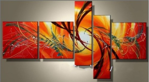 hand-painted-oil-wall-art-Elegant-warm-color-sun-decoration-Abstract-Landscape-oil-painting-on-canvas