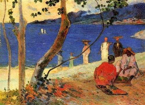 A Seashore, Martinique, 1887