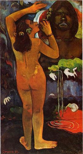 Hina, Moon Goddess & Te Fatu, Earth Spirit - French Polynesia (First Tahiti period, 1893)