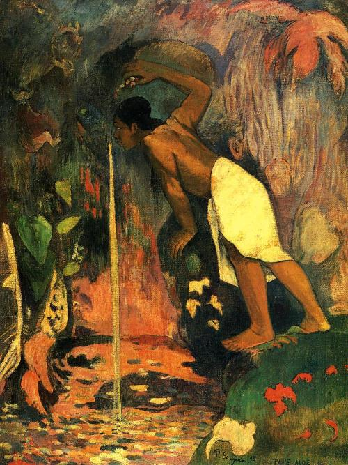 Mysterious Water(Pape Moe) - French Polynesia, (First Tahiti period, 1893)