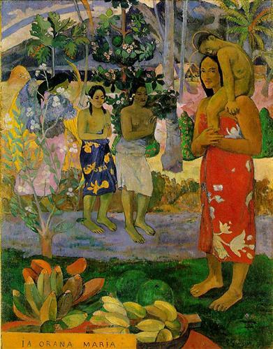 Orana Maria (We Hail Thee Mary) (First Tahiti period, 1891)